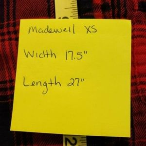 Madewell Tops - Madewell Womens Size XS Top Red Navy Plaid Flannel